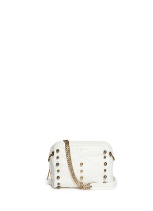 Main View - Click To Enlarge - Lanvin - 'Baby Sugar' metal pearl leather crossbody bag
