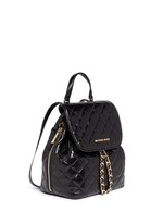 'Susannah' quilted leather backpack