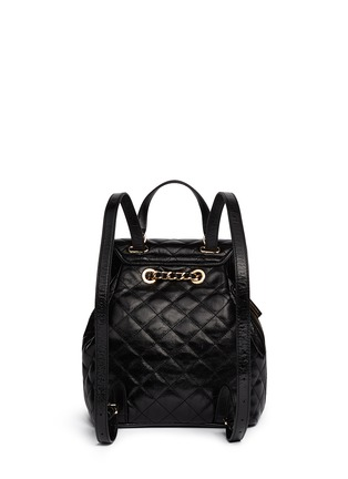 Back View - Click To Enlarge - Michael Kors - 'Susannah' quilted leather backpack