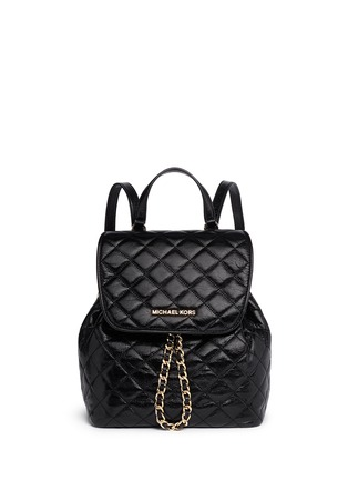Main View - Click To Enlarge - Michael Kors - 'Susannah' quilted leather backpack