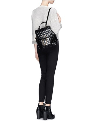 Figure View - Click To Enlarge - Michael Kors - 'Susannah' quilted leather backpack