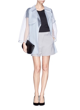 Figure View - Click To Enlarge - Armani Collezioni - Sheer cloqué silk organdy trench coat
