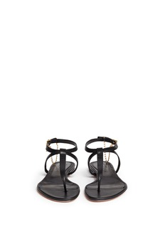 ALEXANDER MCQUEENSkull charm chain leather thong sandals