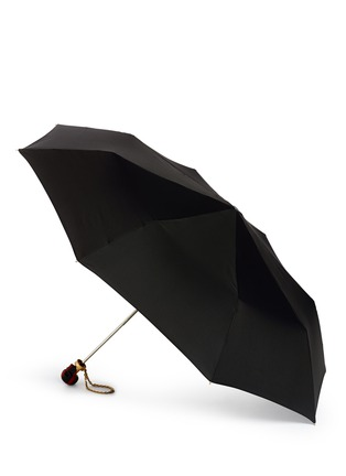 模特儿示范图 - 点击放大 - ALEXANDER MCQUEEN - Cross skull handle folding umbrella