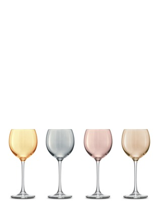Lsa - Polka wine glass set - Assorted Metallics