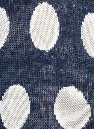 Detail View - Click To Enlarge - WILDFOX COUTURE - Polka dot knit vest