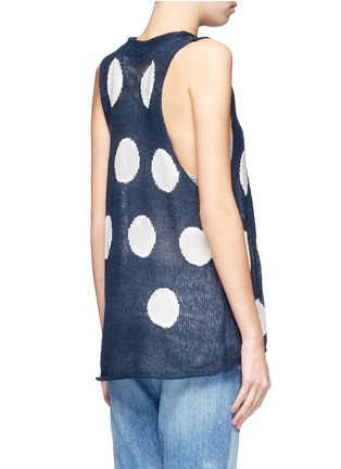 Back View - Click To Enlarge - WILDFOX COUTURE - Polka dot knit vest