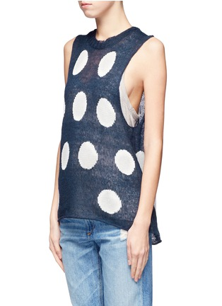 WILDFOX COUTURE-Polka dot knit vest