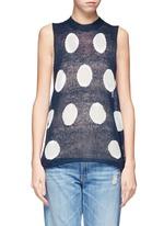 Polka dot knit vest