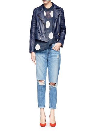 Figure View - Click To Enlarge - WILDFOX COUTURE - Polka dot knit vest
