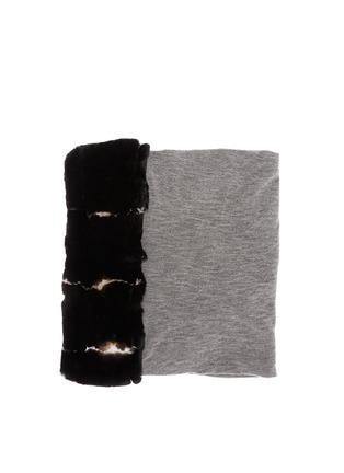 Main View - Click To Enlarge - Cutuli Cult - Rabbit fur cashmere-silk scarf