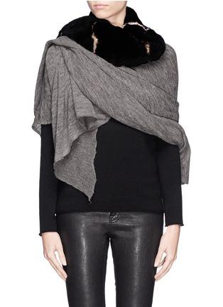Figure View - Click To Enlarge - Cutuli Cult - Rabbit fur cashmere-silk scarf
