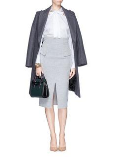 ALEXANDER MCQUEEN'Heroine' mini colourblock leather satchel