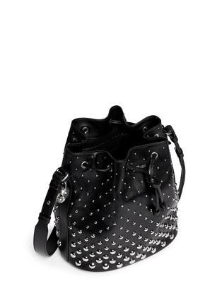 Detail View - Click To Enlarge - Alexander McQueen - 'Padlock' stud leather bucket bag