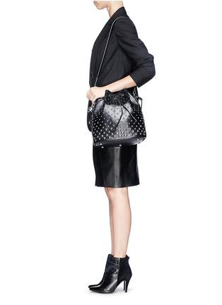 - Alexander McQueen - 'Padlock' stud leather bucket bag