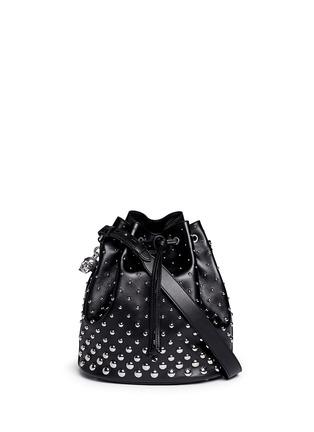 Main View - Click To Enlarge - Alexander McQueen - 'Padlock' stud leather bucket bag
