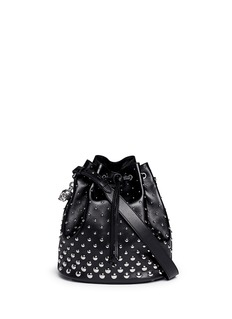 ALEXANDER MCQUEEN 'Padlock' stud leather bucket bag