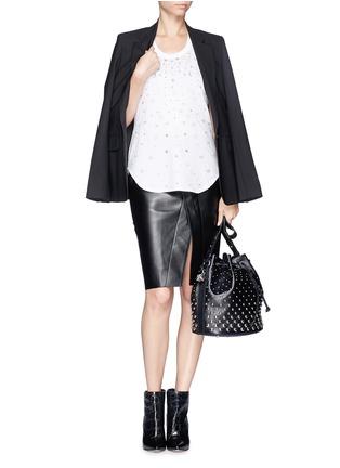 Figure View - Click To Enlarge - Alexander McQueen - 'Padlock' stud leather bucket bag