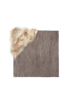 CUTULICULT Fur panel modal-camel scarf