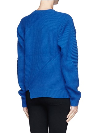 Back View - Click To Enlarge - Opening Ceremony - Slash zip alternate wool knit sweater