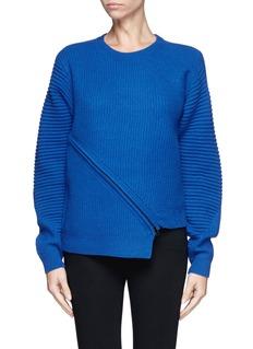 OPENING CEREMONYSlash zip alternate wool knit sweater