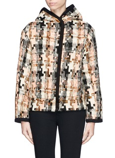 SEE BY CHLOÉ Geometric houndstooth wool blend coat