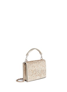 RODO Strass embellished metallic leather crossbody clutch