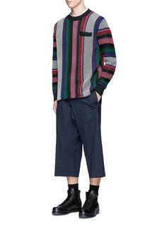 SacaiMexican stripe knit sweater