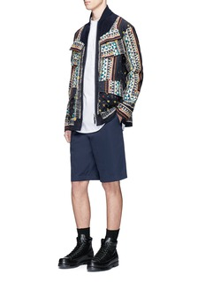 SacaiAloha scarf print corduroy blouson jacket