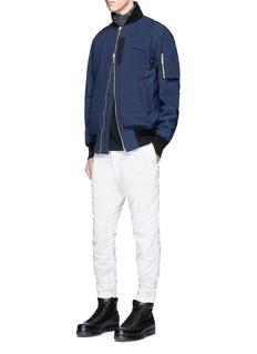 SacaiHickory stripe MA-1 bomber jacket