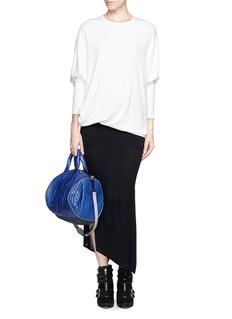 HELMUT LANG'Villous' drape oversize sweatshirt