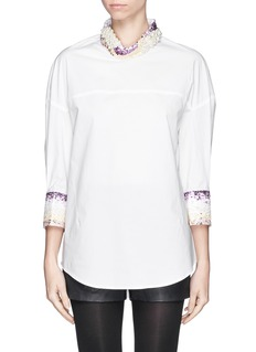 3.1 PHILLIP LIM Sequin collar poplin shirt