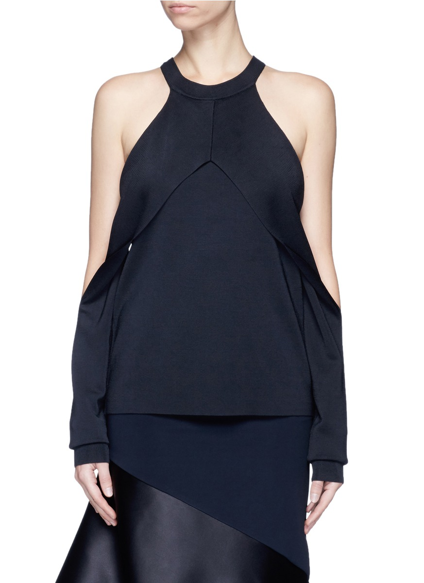 Sleeve release sleeveless knit top by Dion Lee