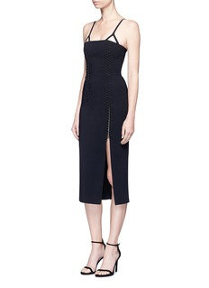 Dion LeeCoil laced elastic cord bustier dress