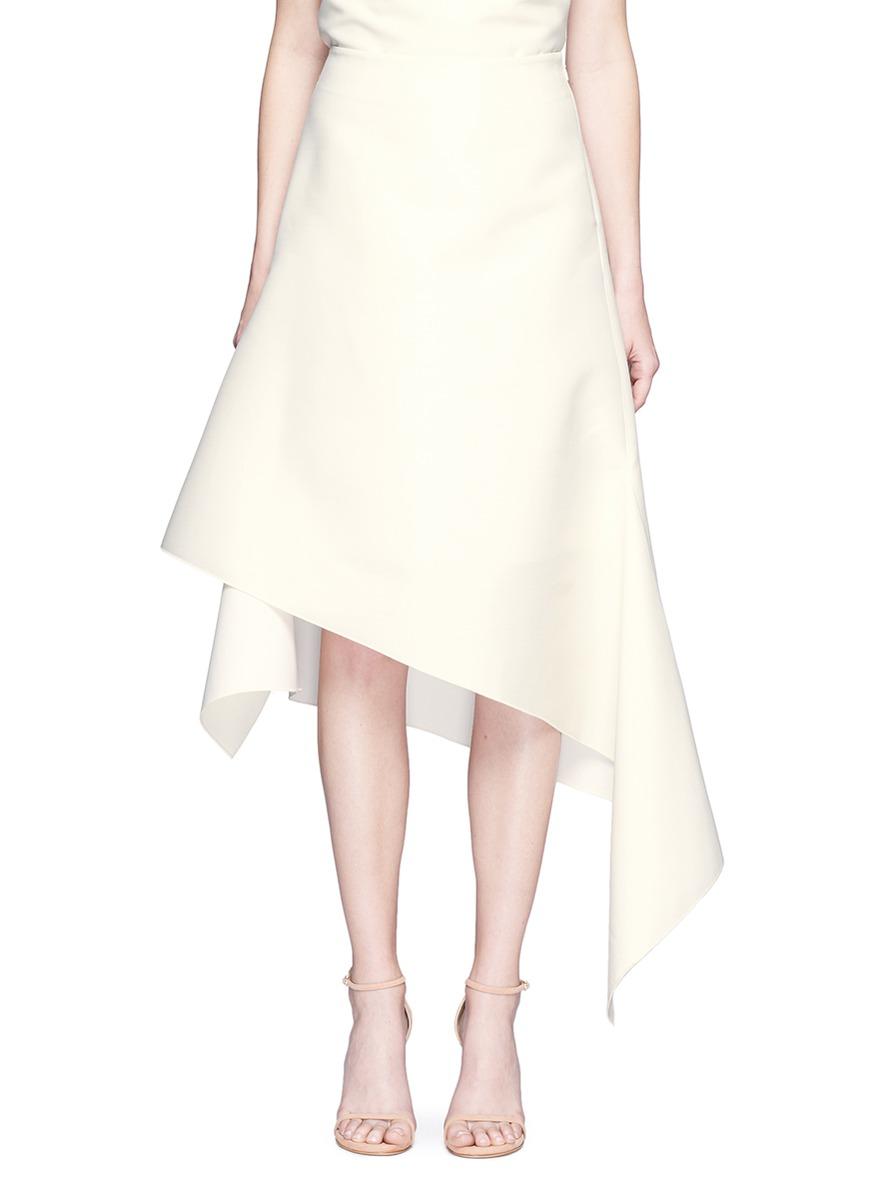 Surface asymmetric hem organza skirt by Dion Lee
