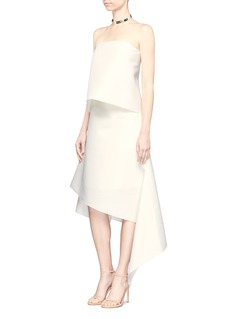Dion Lee 'Surface' asymmetric hem organza skirt