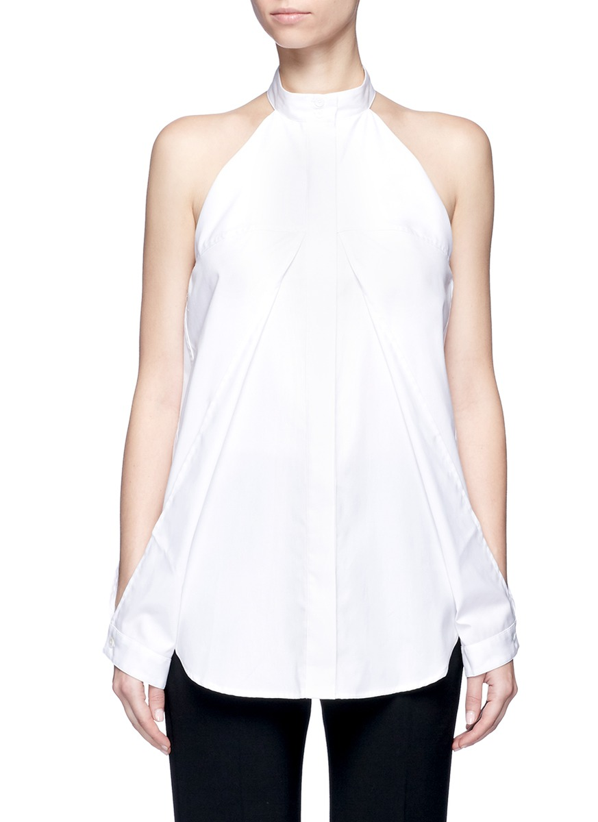 Sleeve release cotton poplin shirt by Dion Lee