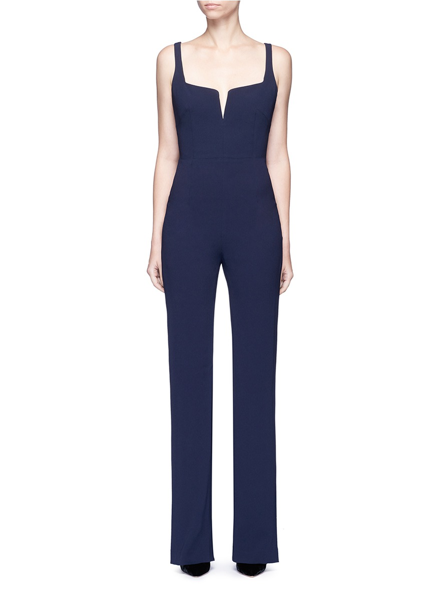 Signature Corset satin-crepe jumpsuit by Galvan London
