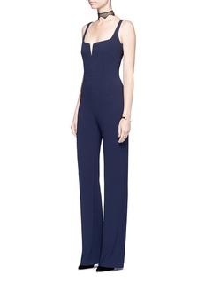 Galvan London'Signature Corset' satin-crepe jumpsuit