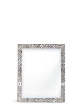 Main View - Click To Enlarge - LANE CRAWFORD - Antique floral metal 8R photo frame