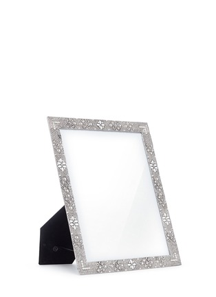 - LANE CRAWFORD - Antique floral metal 8R photo frame