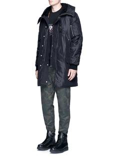Alexander Wang Shearling lined hood padded parka