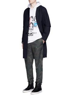 Alexander Wang Collage artwork mix media hoodie