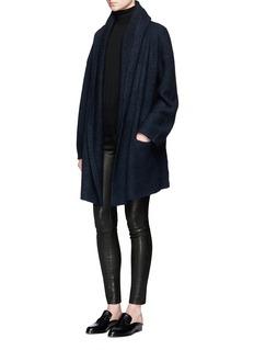 VinceWool blend hooded robe cardigan
