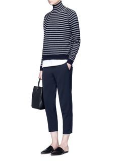 VinceBreton stripe turtleneck cashmere sweater