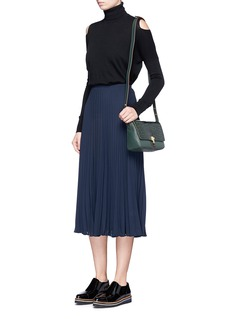 Vince Plissé pleat georgette skirt