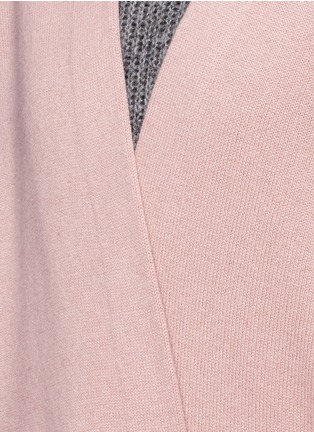 Detail View - Click To Enlarge - Vince - Cashmere knit blanket coat