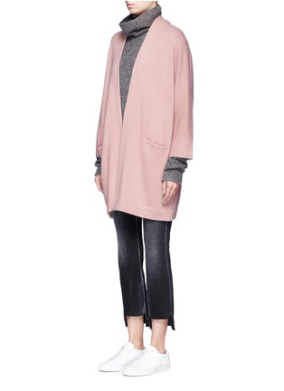 Front View - Click To Enlarge - Vince - Cashmere knit blanket coat