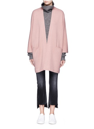 Main View - Click To Enlarge - Vince - Cashmere knit blanket coat