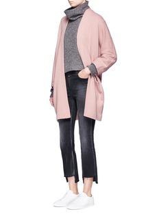 VinceCashmere knit blanket coat